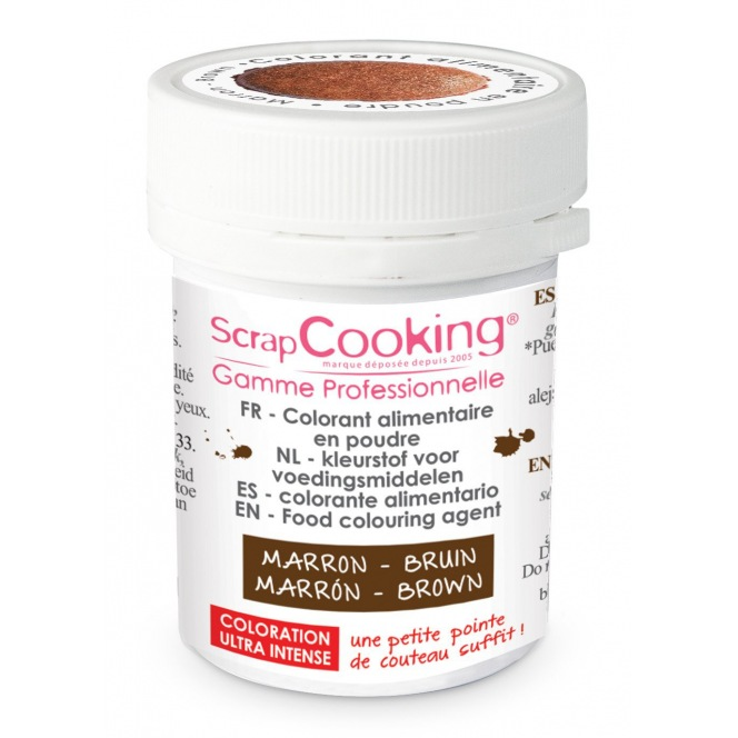 Powder Food Coloring - Marron - Scrapcooking