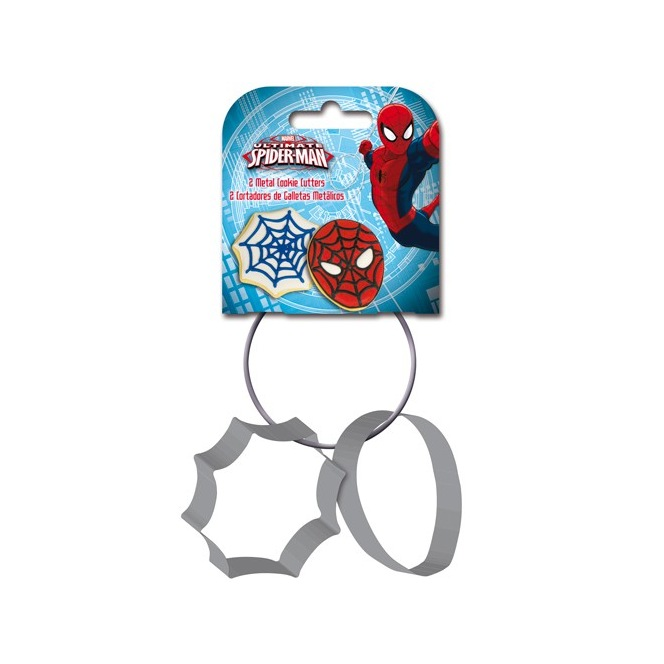 Stor Metal Cookie Cutters Spiderman set/2