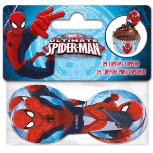 24 Piques en Papier - Spiderman
