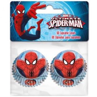 60 Mini-Caissettes à Cupcakes - Spiderman