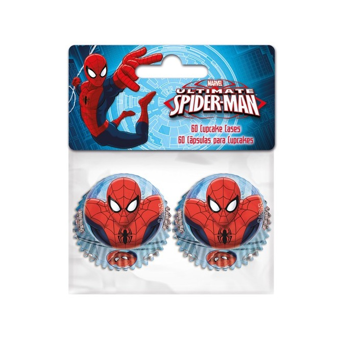 60 Mini-Caissettes à Cupcakes - Spiderman