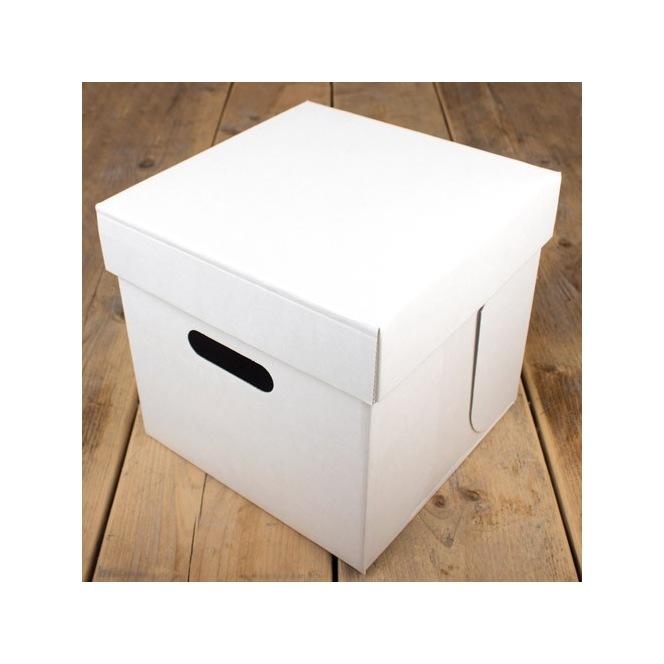 FunCakes Cake Box - White - 25.5x25.5x25cm
