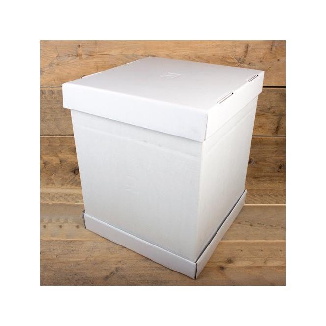 FunCakes Cake Box - White - 37x37x45cm