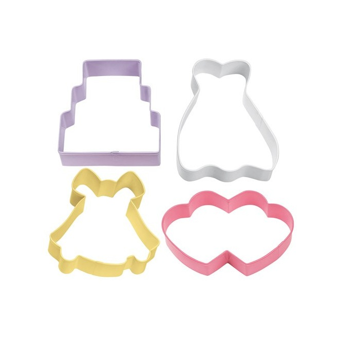 Wilton Cookie Cutter Wedding Theme set/4
