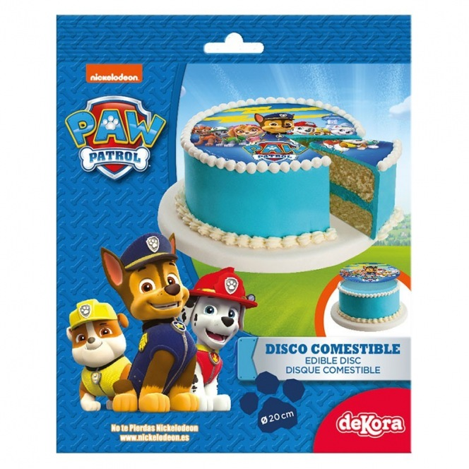Wafer disc Paw Patrol Blue