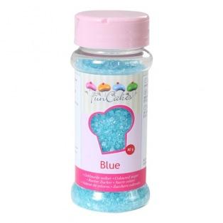 Coloured Sugar -Blue- 80g - Funcakes