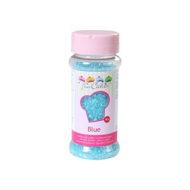Coloured Sugar Blue 80g Funcakes