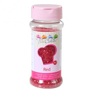Coloured Sugar - Red - 80g - Funcakes