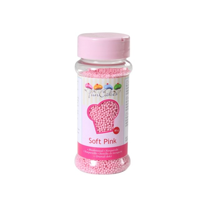 FunCakes Nonpareils Light Pink 80g
