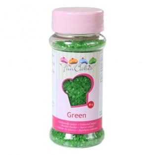 Coloured Sugar -Green- 80g - Funcakes