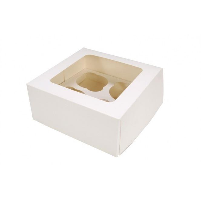 Boîte à 12 cupcakes blanches