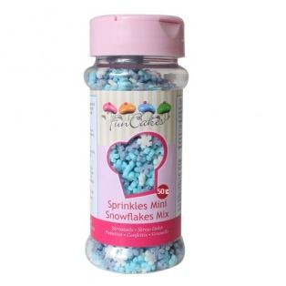 Mix Mini Flocons de Neige en Sucre  FunCakes 50g
