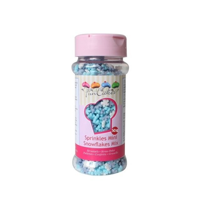 Mix Mini Flocons de Neige en Sucre  FunCakes 50g