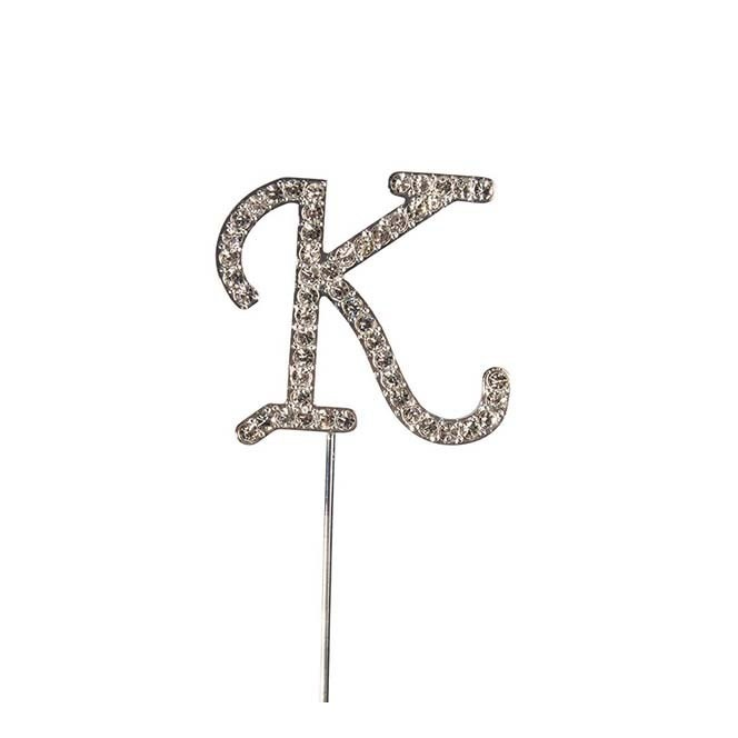 Diamante Alphabet Pick - K