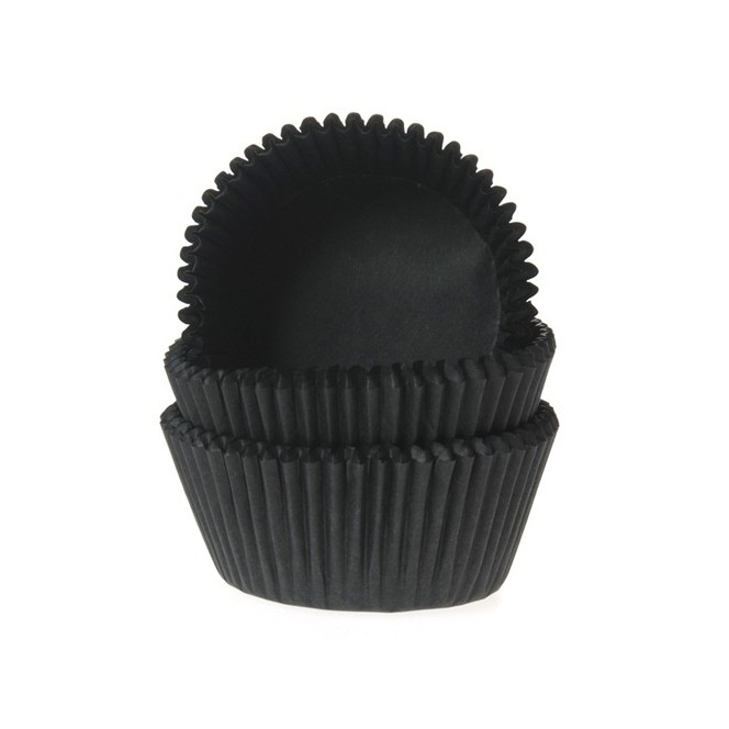 House Of Marie Mini Baking Cups Black - Pk/60