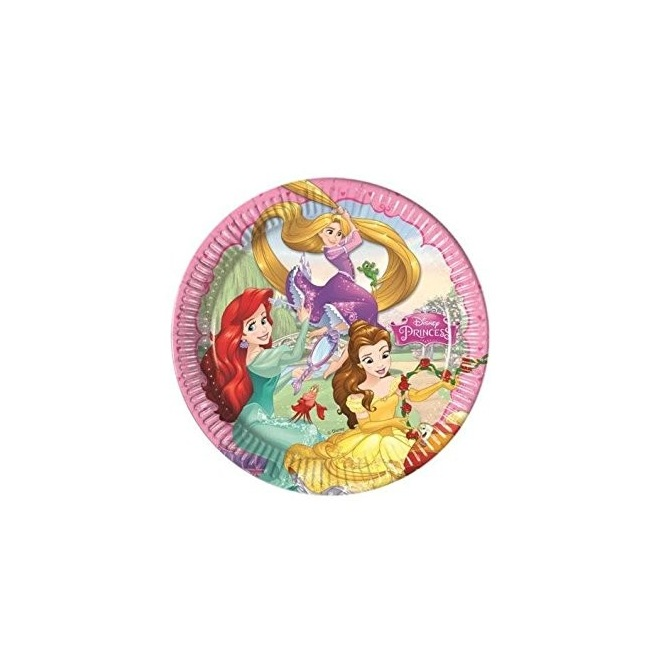 8 paper plates - Disney Princess