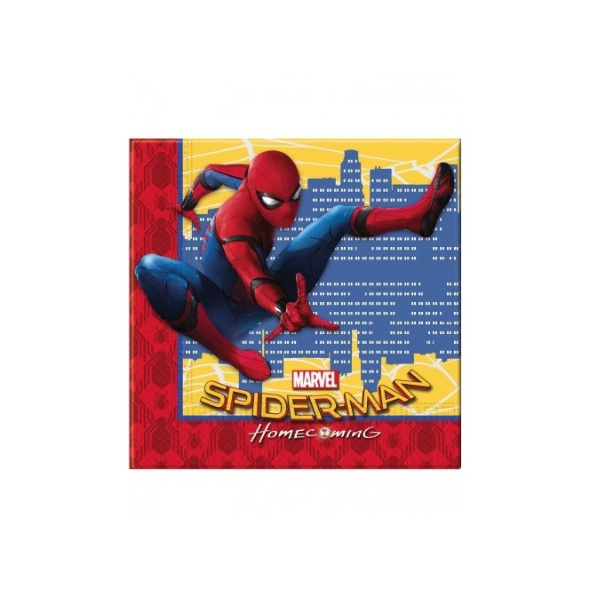 20 Napkins - Spiderman homecoming