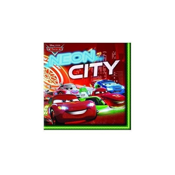 20 Napkins Cars Neon City