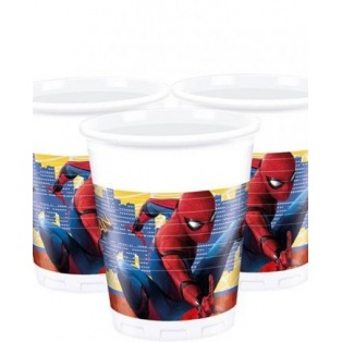 10 Plastic Cups - Spiderman Homecoming