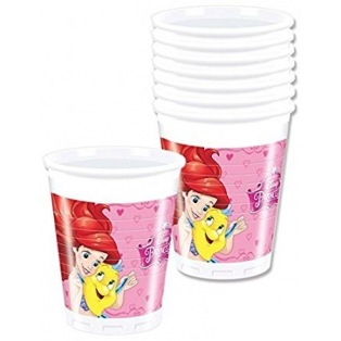8 Plastic Cups - Disney Princess