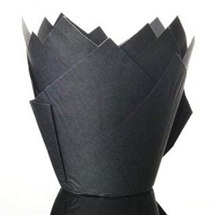 50 Caissettes en papier Tulipcup Noir