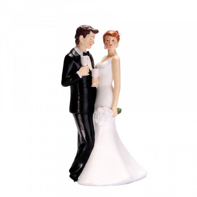 Couple de Mariés avec Coupe de Champagne