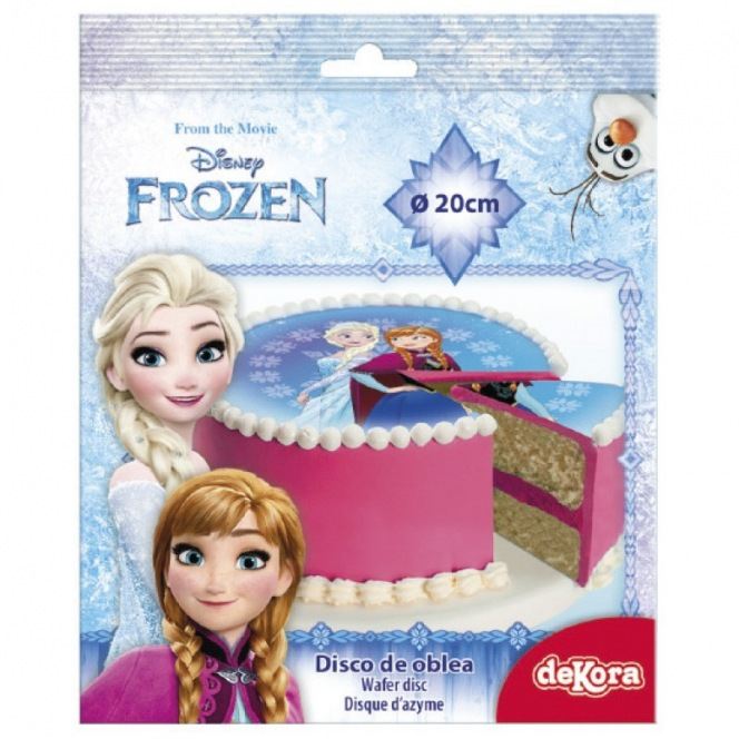 Wafer decorations with sugar - Frozen - 20cm