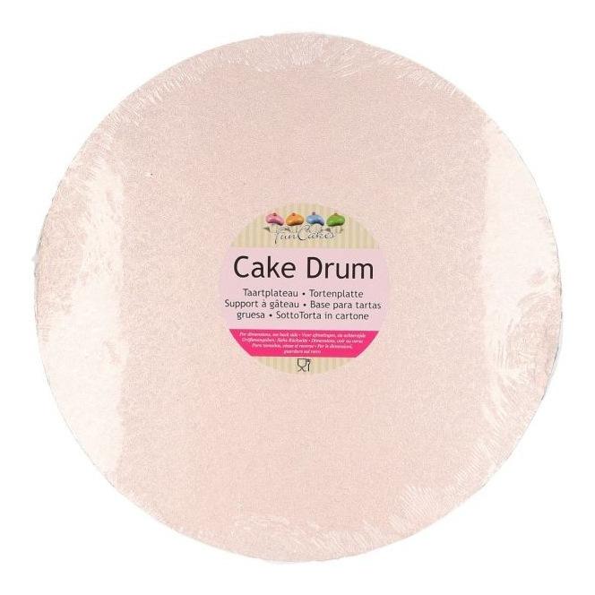 Drum Cake Round 25 cm pink gold - Funcakes