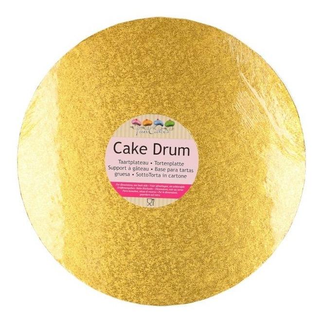Drum Cake Round 25 cm gold - Funcakes