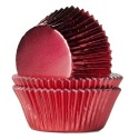 Baking Cups Foil Red - 24 pieces - House of Marie