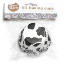 Baking Cups Cow spot black - 50 pieces - House of Marie