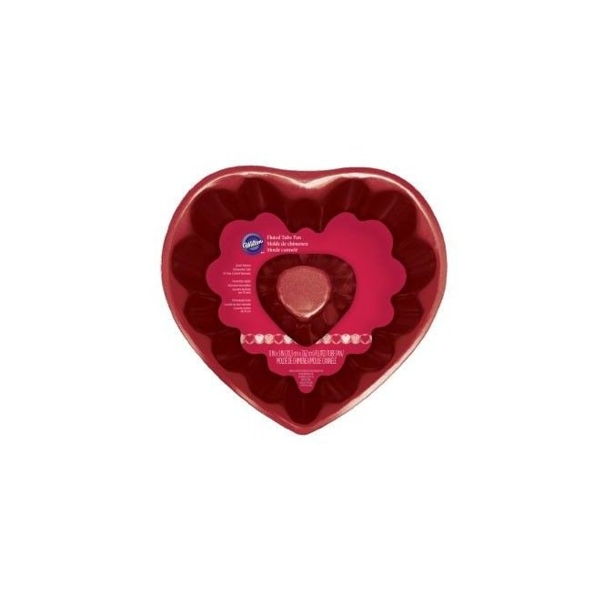 Fluted tube heart pan - 20cm - Wilton