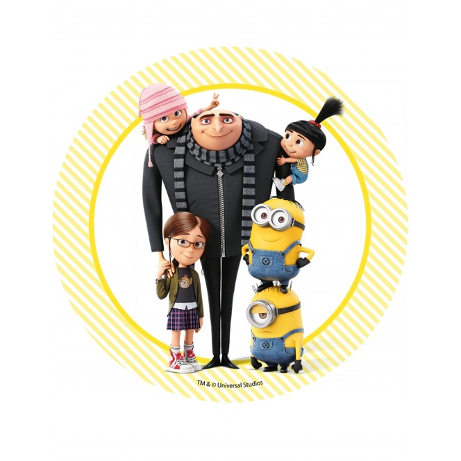 Wafer disc Minion - Despicable Me- family1 - 20cm