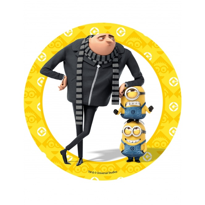 Wafer disc Minion - Despicable Me- Gru - 20cm