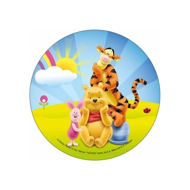 Wafer disc Winnie The Pooh 20cm - Piglet and Tigger