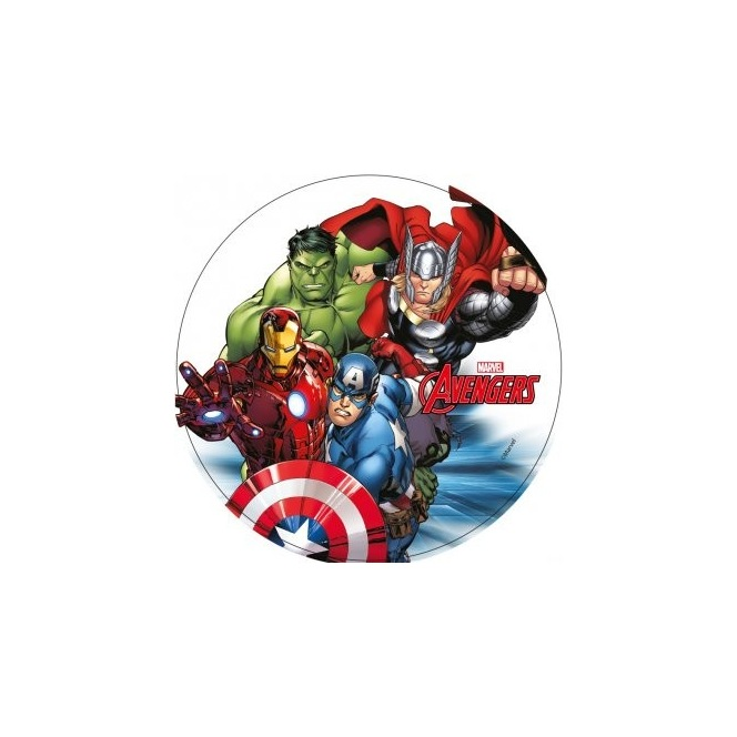 Wafer disc Avengers - Iron Man, Hulk, Thor and Captain America - 20cm