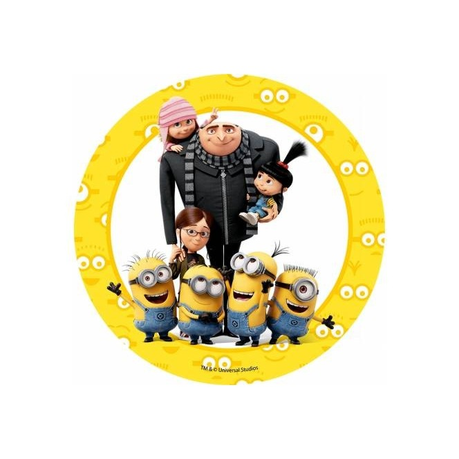 Wafer disc Minion - Despicable Me- family2 - 20cm