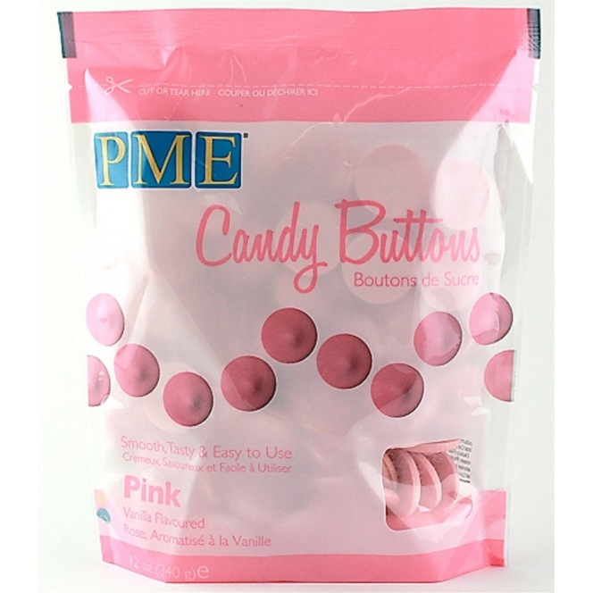 Candy Button - Pink - PME - 340g