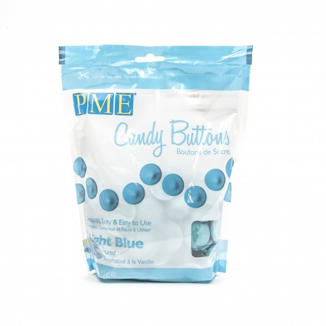 Candy Button - Light Blue - PME - 340g