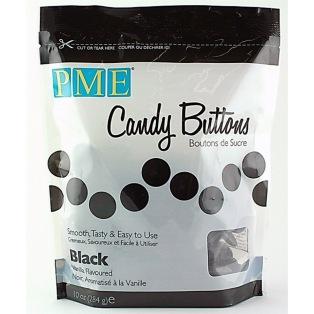 Candy Button - Black - PME - 340g