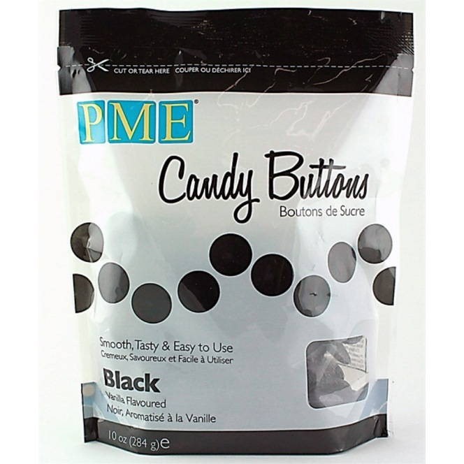 Candy Button - Black - PME - 340g