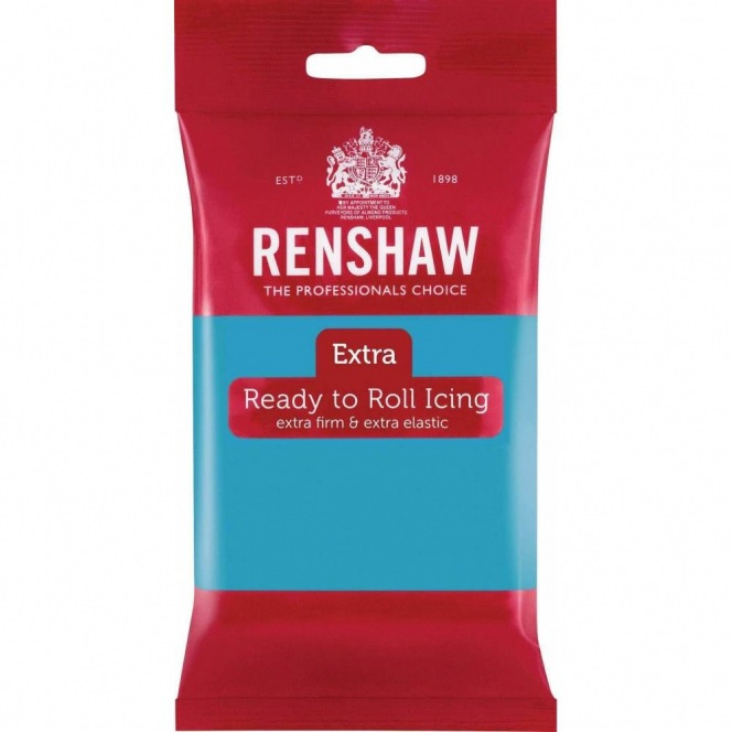 Renshaw Rolled Fondant Extra 250g - Turquoise