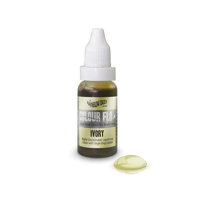 RD Colour Flo Airbrush Colour - Ivory -16ml