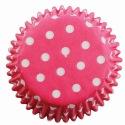 Baking Cups Pink Polka Dots pk/60 - PME