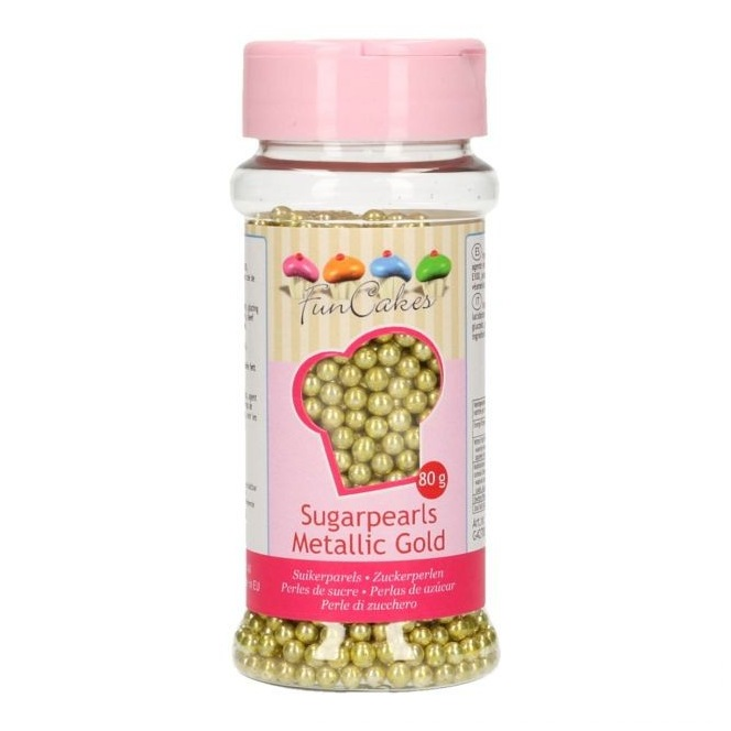 FunCakes Sugarpearls -Metallic Gold- 80g