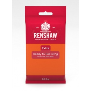 Renshaw Rolled Fondant Extra 250g - Orange Ready