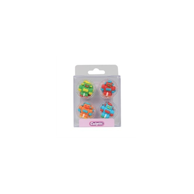 Robots Sugar Decorations - 12pc- Culpitt