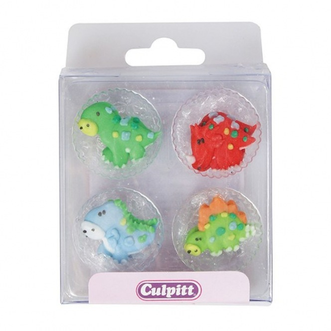 Dinosaurs Sugar Decorations - 12pc- Culpitt