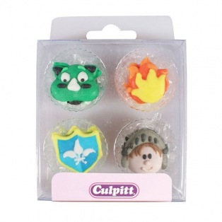 Dragon Knight Sugar Decorations - 12pc- Culpitt