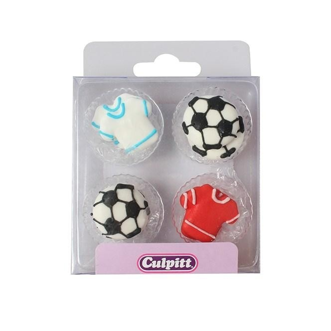 Football & shirt Sugar Decorations - 12pc- Culpitt